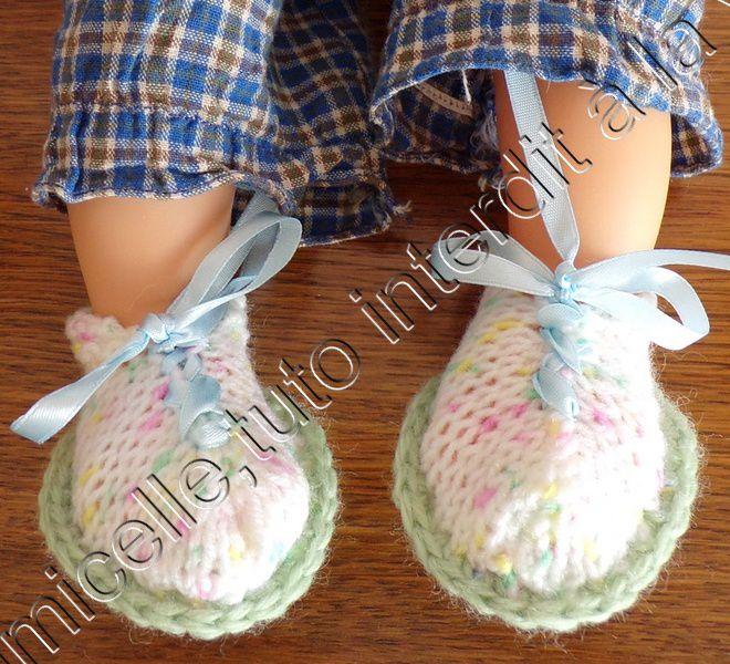 tuto gratuit  poupée : chaussures  à lacets