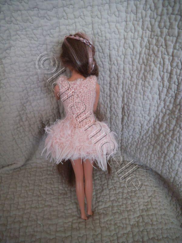 tuto gratuit barbie : robe douceur mohair et fausse fourrure