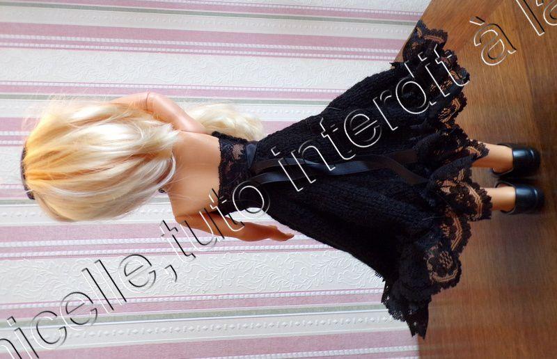 tuto gratuit poupée : robe Piano bar ; défi Pipiou