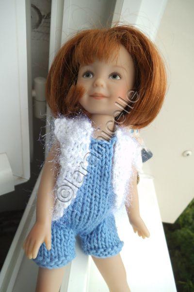 tuto gratuit poupée: salopette coton jean et gilet confortable