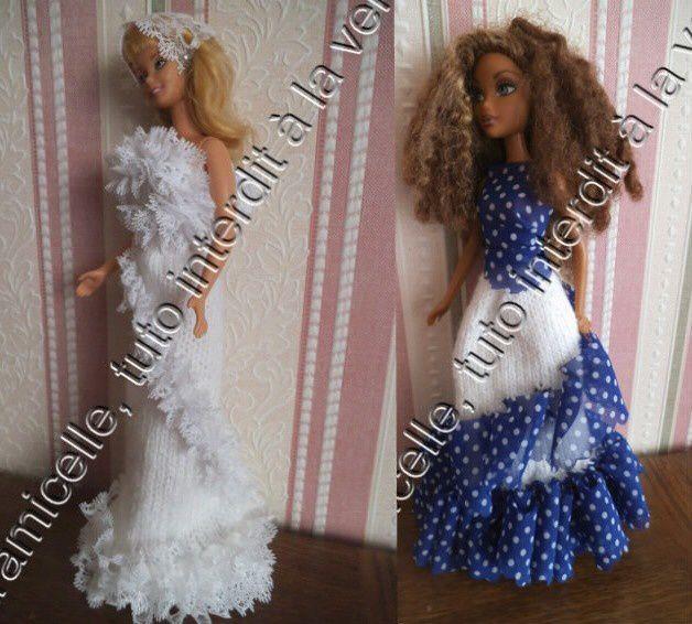 tutos gratuits barbie  : robes  longues