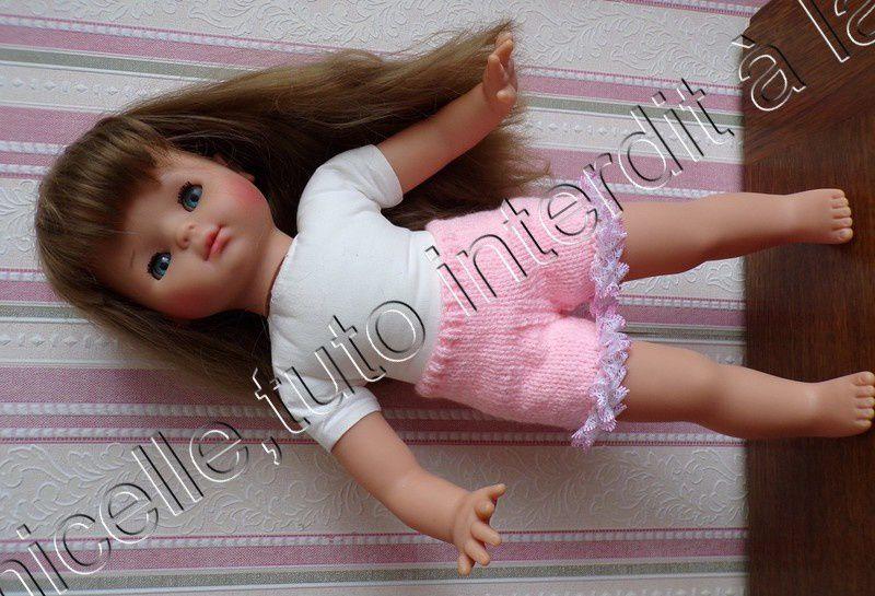 tuto gratuit poupée : panty à la dentelle