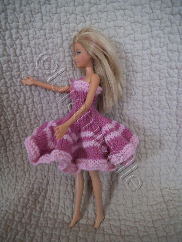 tuto gratuit barbie ; robe bustier virevoltante améthyste