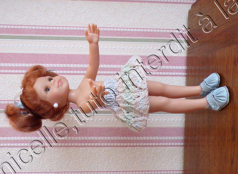 tuto gratuit poupée : jupe  douceur  pour l'automne