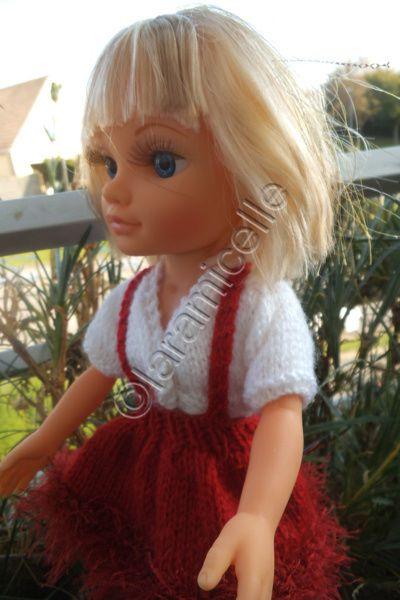 tuto gratuit poupée nancy: gilet croisé col en V et faux raglan