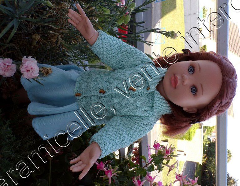 tuto gratuit  poupée : longue veste irlandaise