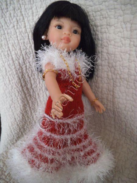 tuto gratuit paola reina : variation sur la robe mère Noël