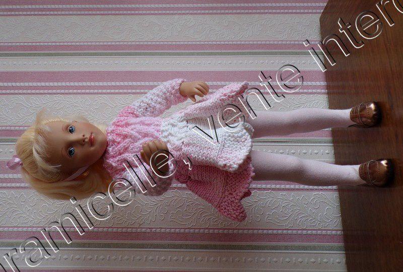 tuto gratuit poupée : pull  tendre  pour l'hiver