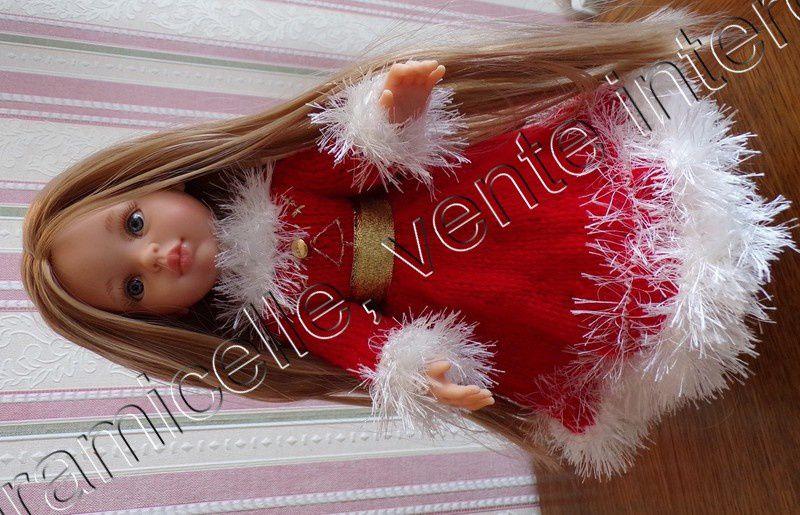tuto gratuit  poupée  : petit pull, tenue de NOËL ;