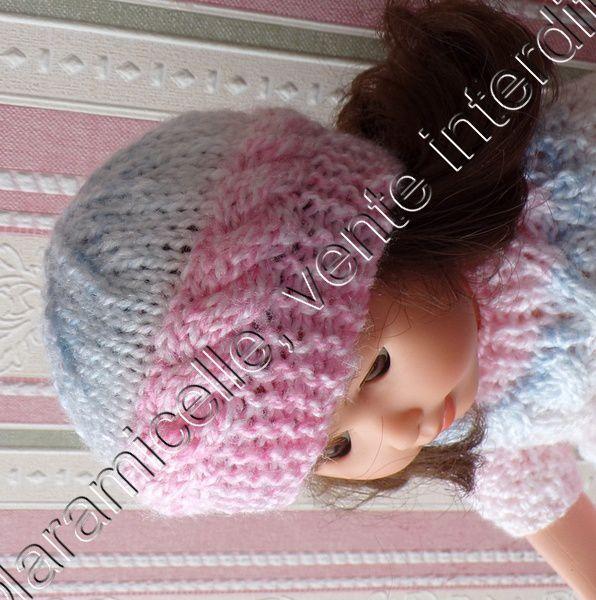 tuto gratuit poupée  : bonnet à torsades