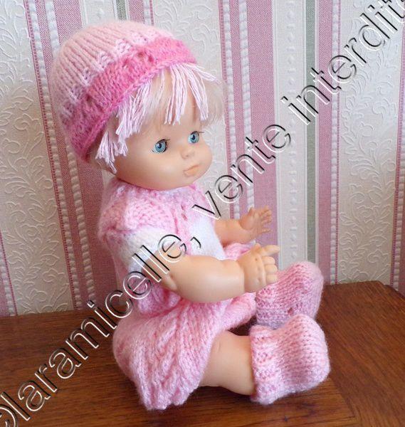 tuto gratuit poupée : chaussons et tenue complète