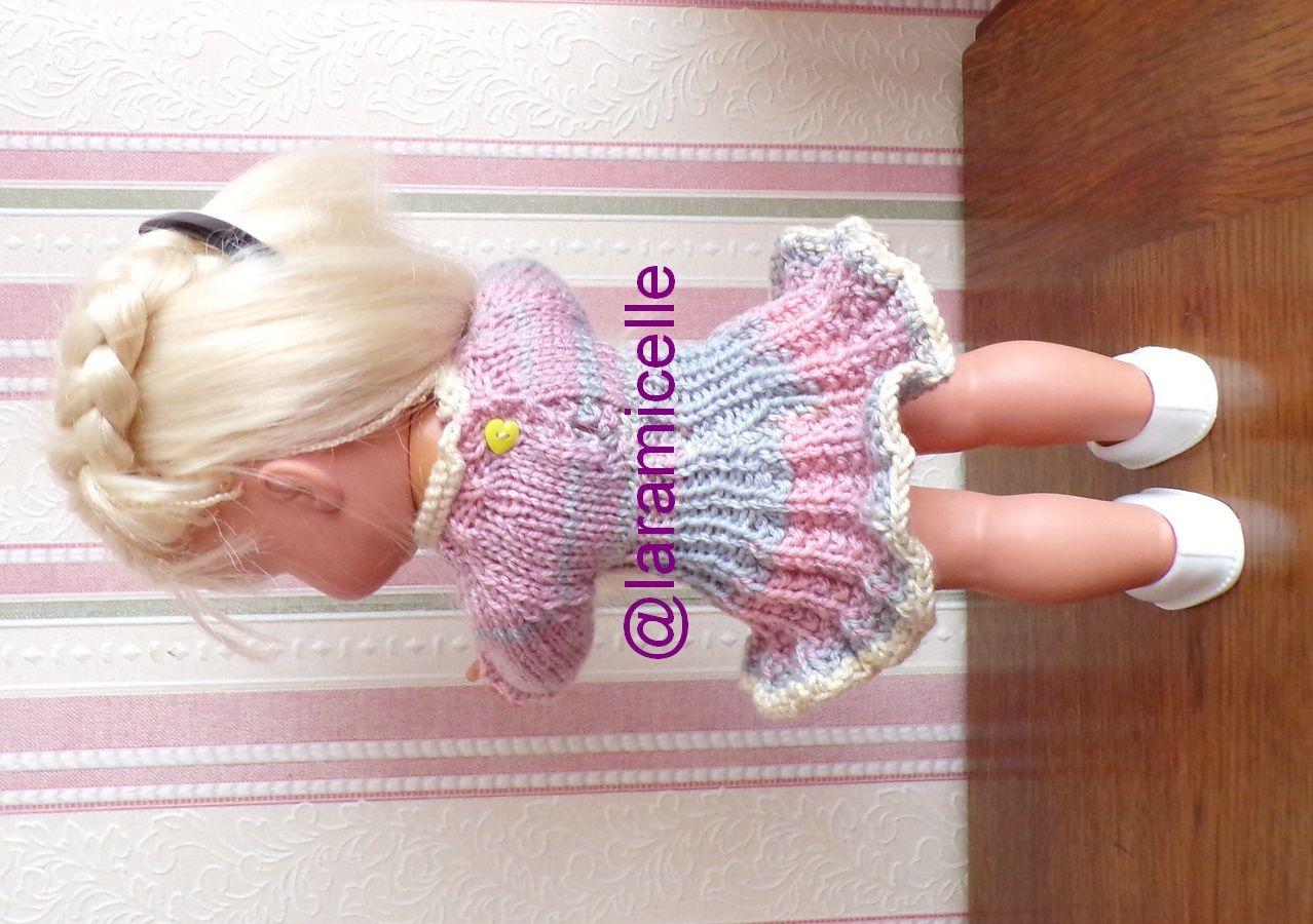 tuto gratuit poupée  : robe soleil d'hiver au col roulotté