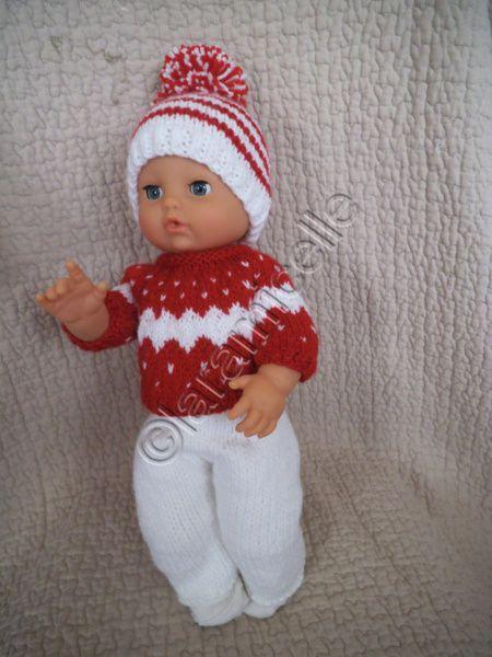 tuto gratuit poupée : bonnet à pompon pour poupon