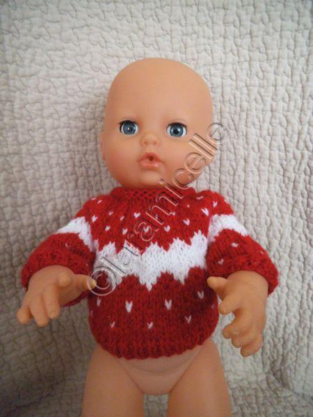 tuto gratuit poupée :un pull type norvégien pour un poupon