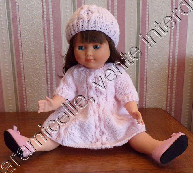 tuto gratuit  poupée  : petit bonnet torsadé