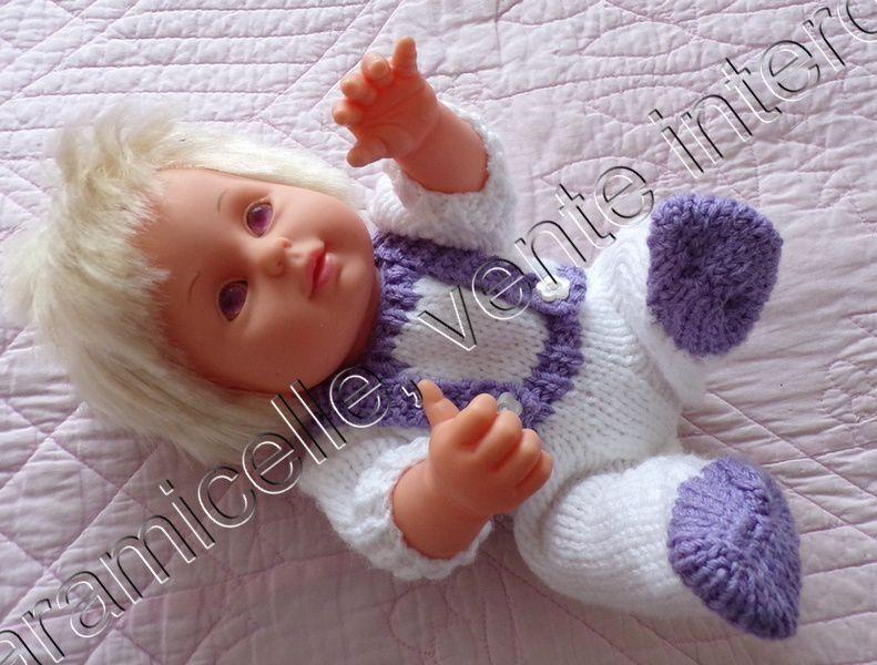 """tuto gratuit poupée : combinaison """"deux en un """" avec bretelles"""