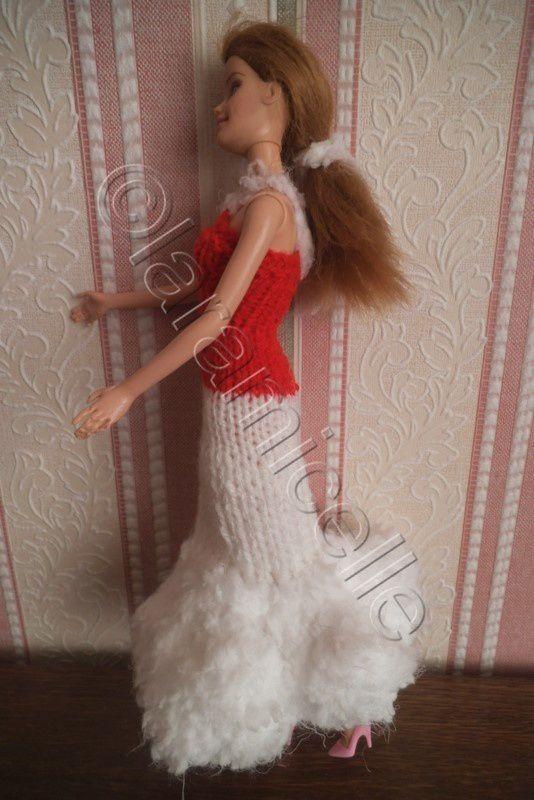 tuto gratuit barbie: robe longue Noël