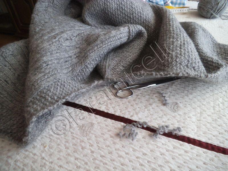 tuto gratuit astuces tricot:  élargir un pull trop étroit
