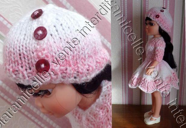 tuto gratuit poupée  : bonnet boutonné