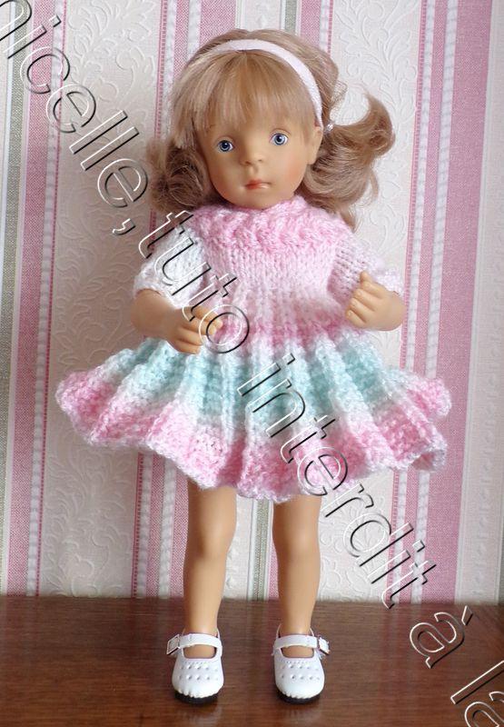 tuto gratuit poupée : robe soleil arc en ciel