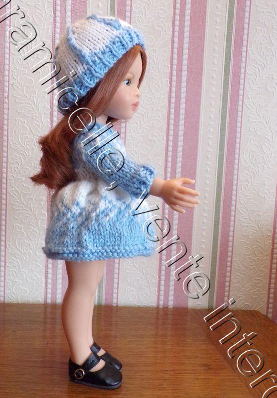 tuto gratuit poupée  : bonnet bicolore