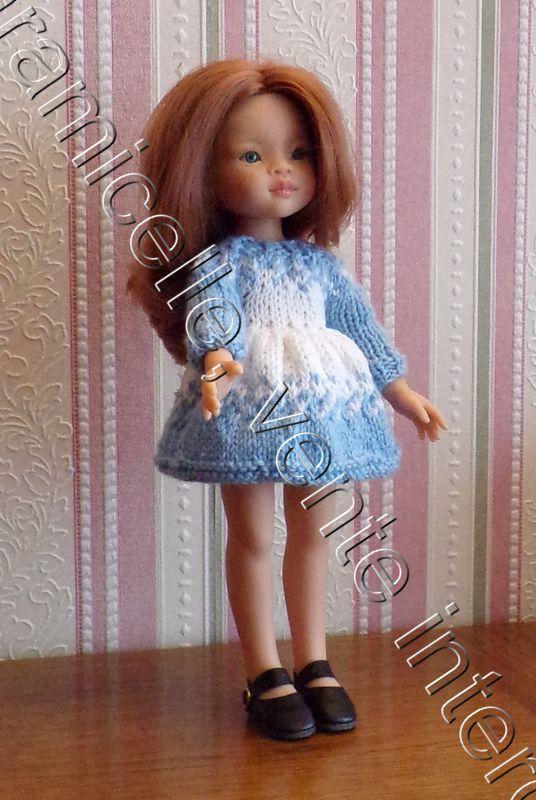 tuto gratuit  poupée  : robe bicolore