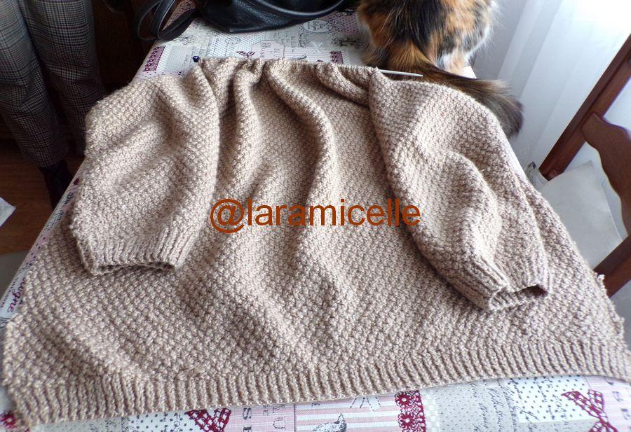 astuce tricot  : démonter  le devant d' une veste