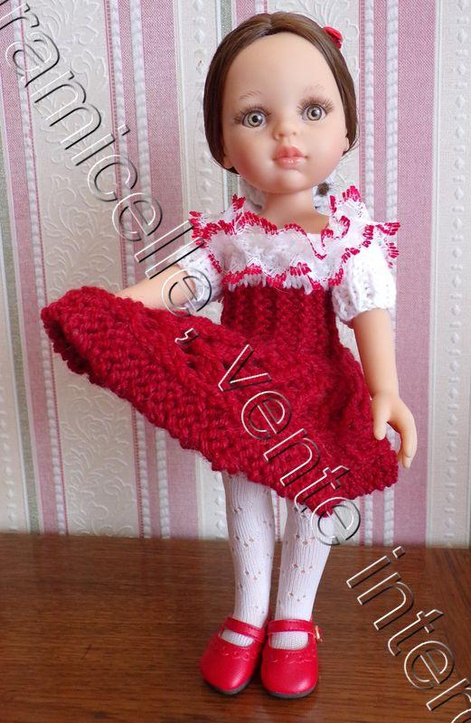 tuto gratuit poupée  : robe bicolore printanière