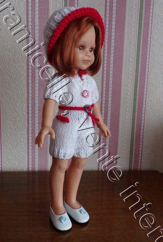 tuto gratuit poupée  : bonnet bicolore et petit motif