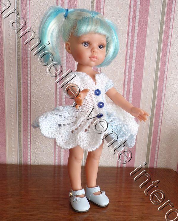 tuto gratuit poupée  : robe corolle boutonnée sur le devant