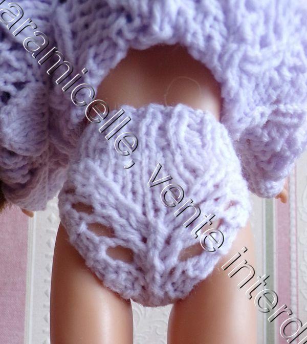 tuto gratuit poupée  : petite culotte ajourée