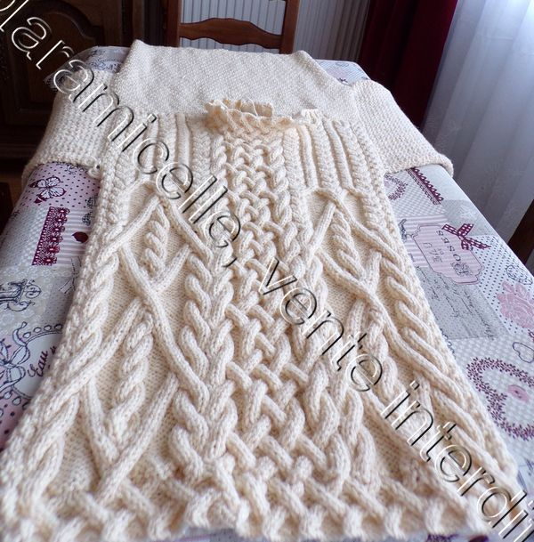 pull d' Imali : montage des manches
