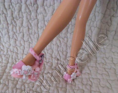 tuto gratuit barbie: sandales compensées en cuir et petite bride