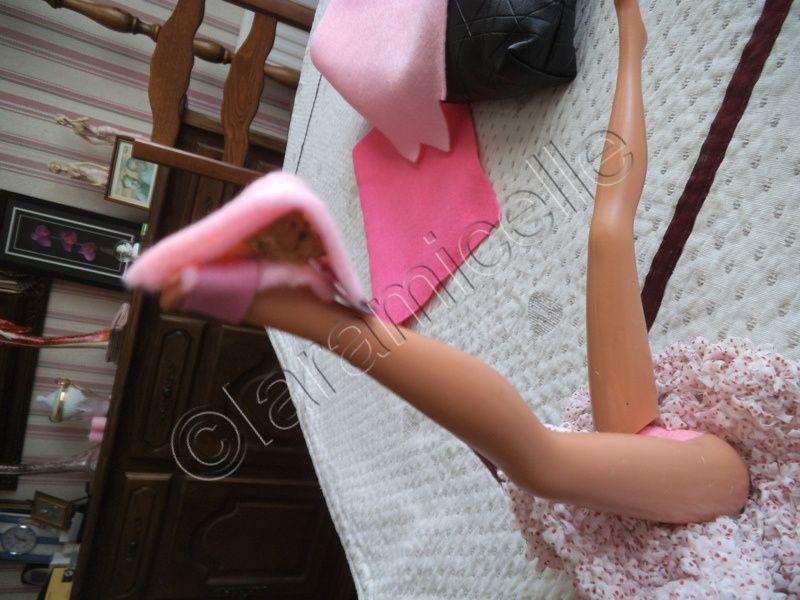 tuto gratuit barbie: sandales en cuir, semelles compensées  ultra féminines