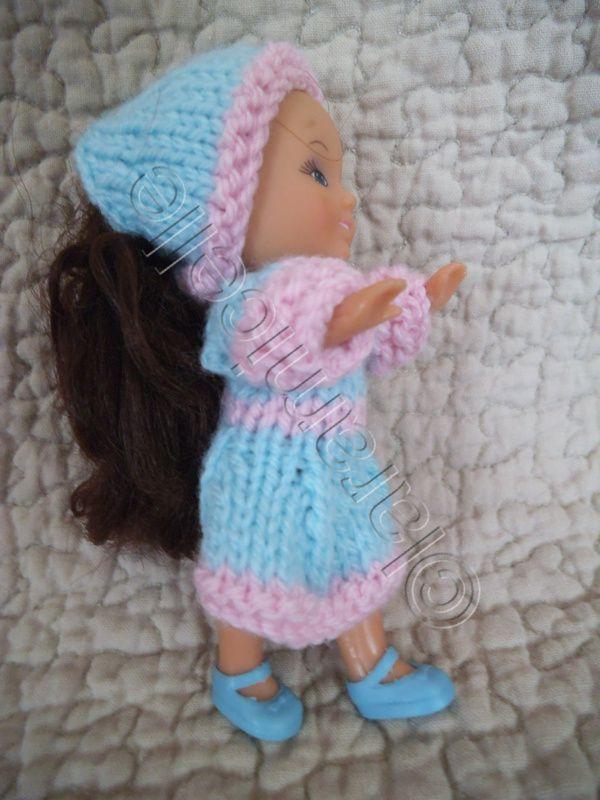 gratuit: tuto pour une mini poupée; robe et fichu