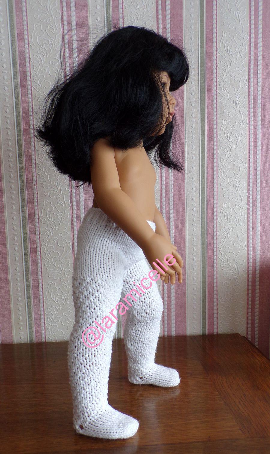 tuto gratuit poupée  : collants  de laine