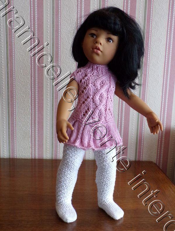tuto gratuit poupée  : robe plissée et col cheminée