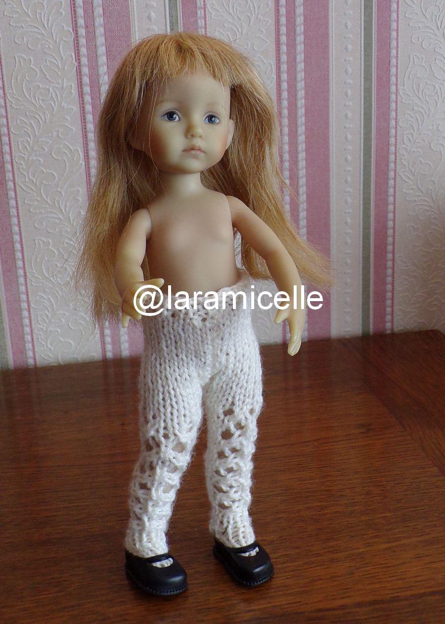 tuto gratuit  poupée  : collants ajourés