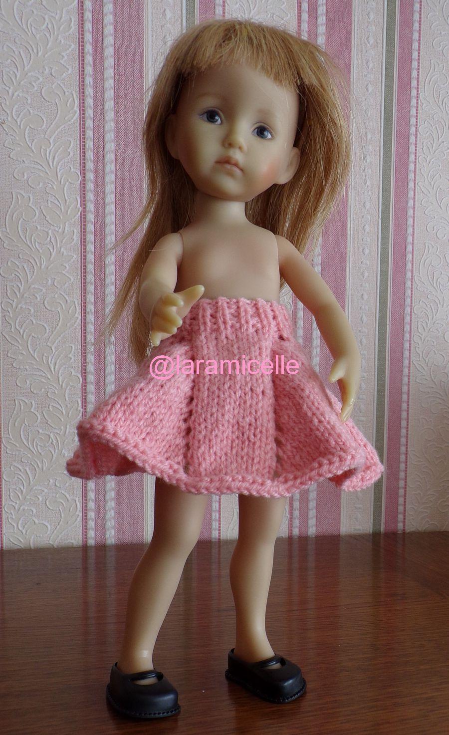 tuto gratuit  poupée : jupe à godets