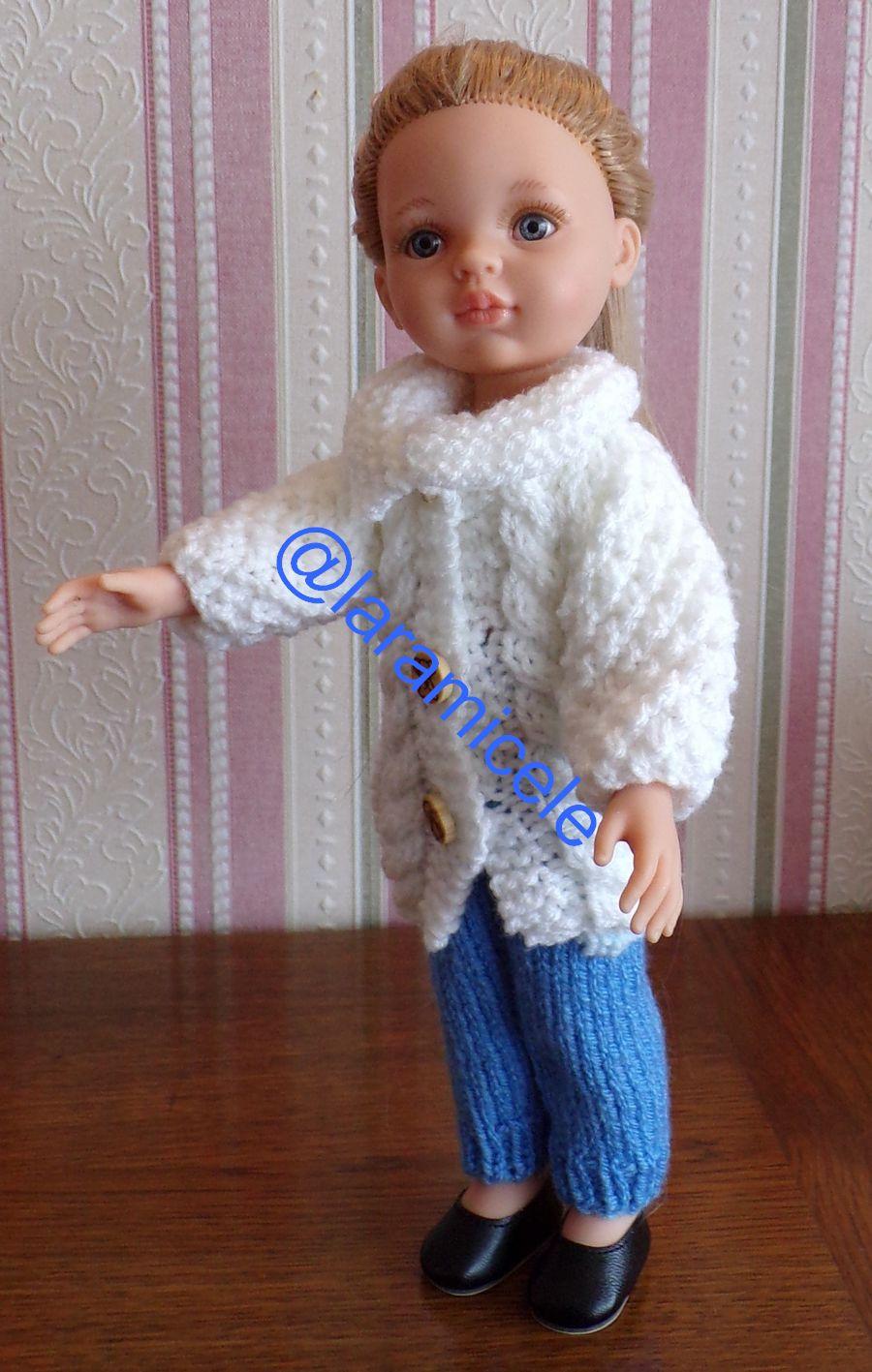tuto gratuit poupée  : longue veste avec boutons et grand col