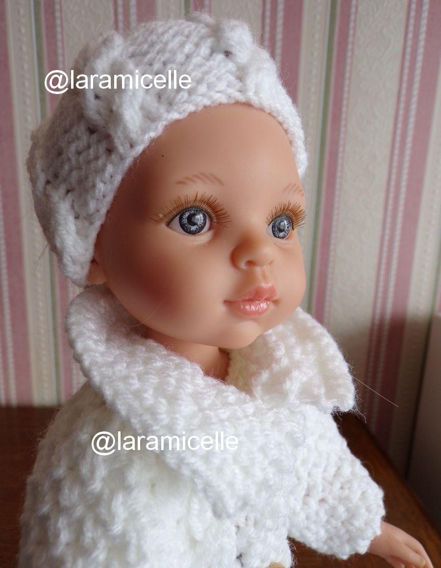 tuto gratuit poupée  : bonnet ouvert à torsades