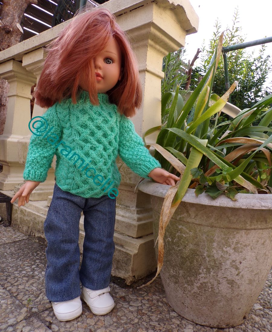 tuto gratuit poupée :  casquette irlandaise