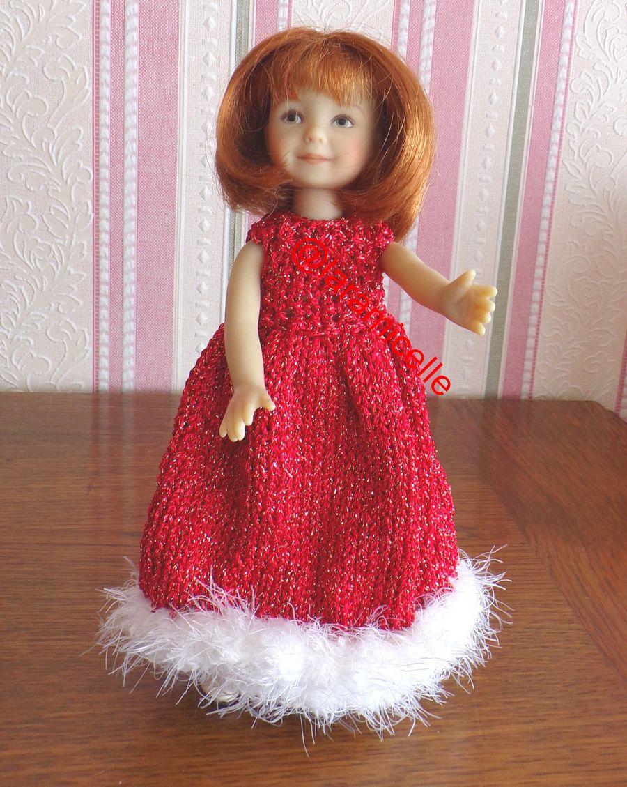 tuto gratuit poupée : robe longue pour NOËL ; tricoteuses débutantes