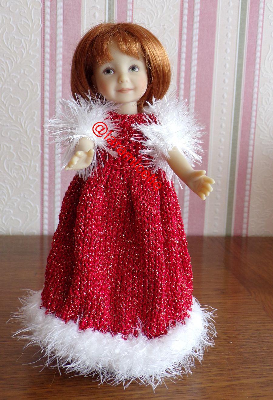 tuto gratuit poupée: protège épaules fil fourrure, tricoteuses débutantes