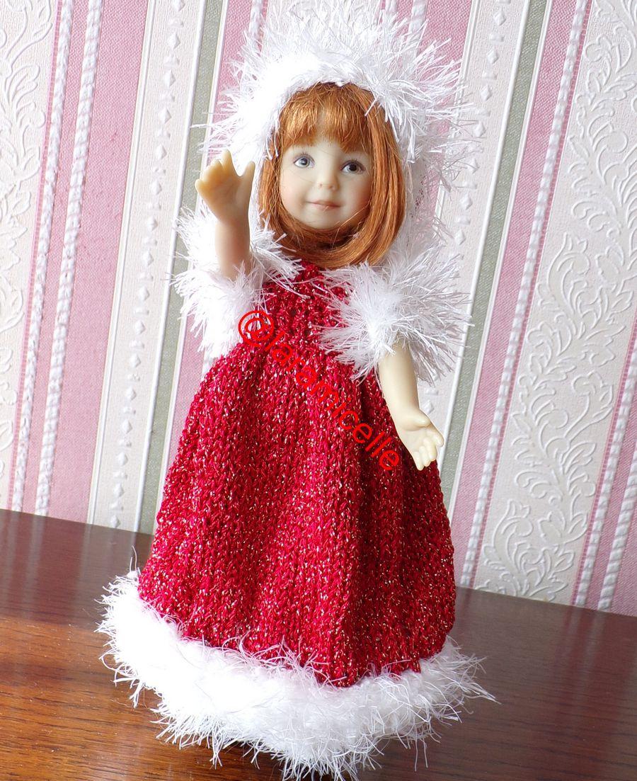 tuto gratuit poupée : bonnet pour Noël ; tricoteuses débutantes