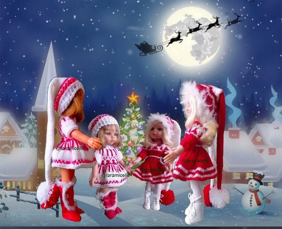 tutos gratuits poupées : tenues de NOËL