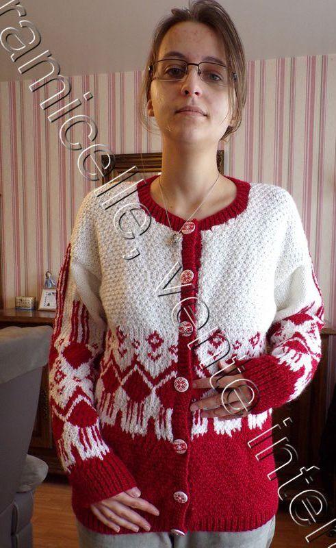 tuto gratuit : veste jacquard pour femme