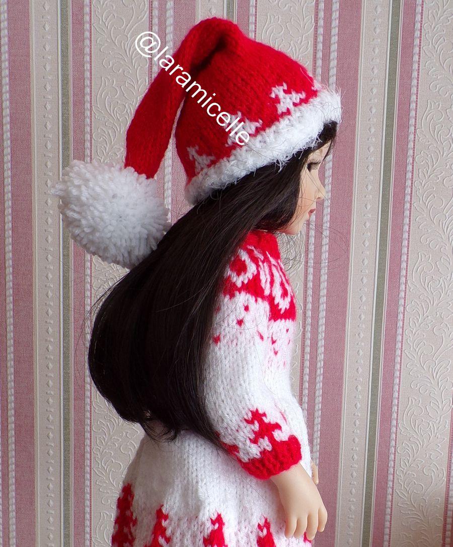 tuto gratuit poupée  : bonnet de NOËL