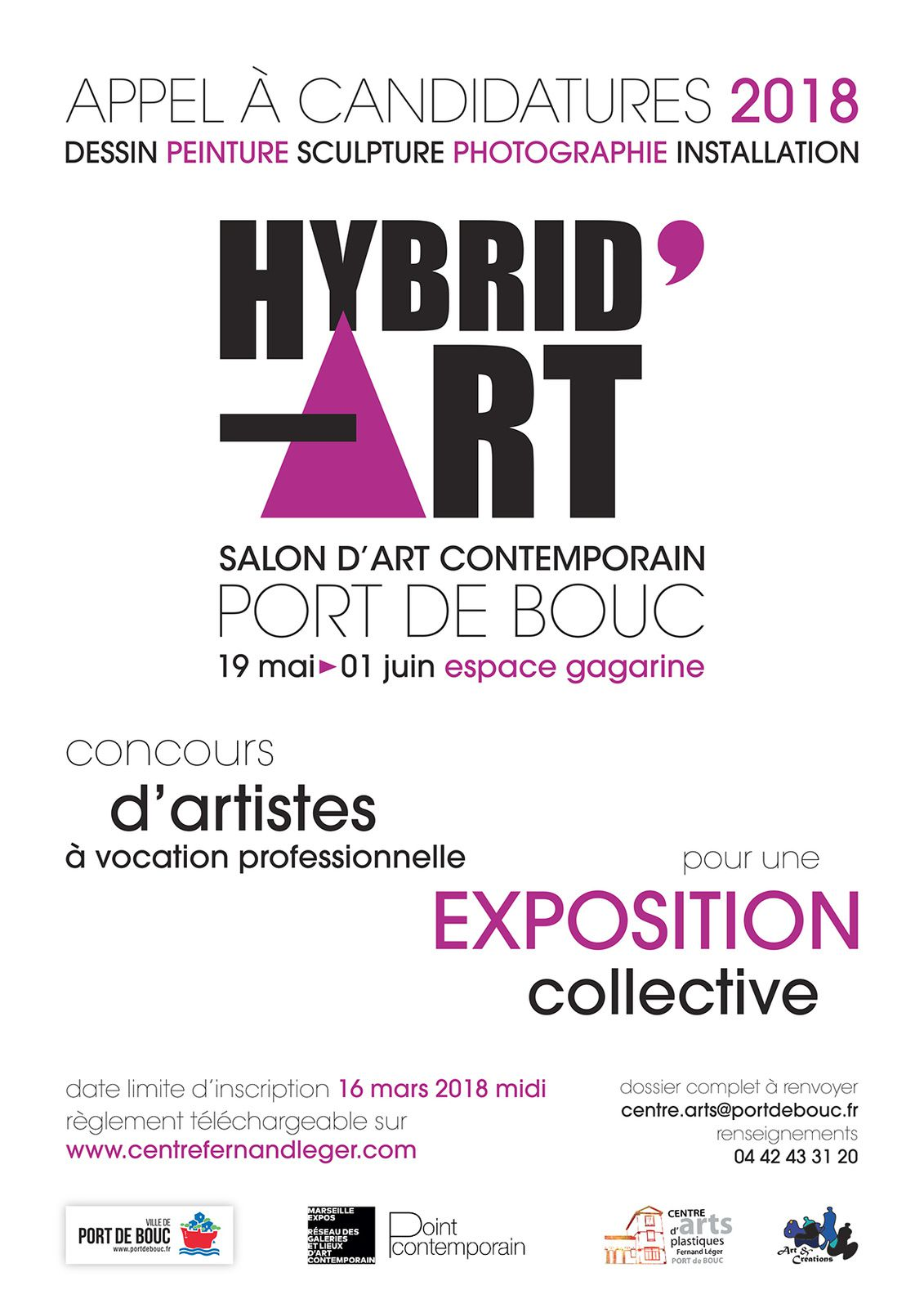 Appel à candidatures 2018 - HYBRID'ART Salon d'art contemporain