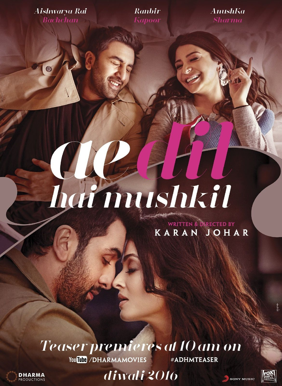 VIBE YOUR MUSICAL HEART WITH AE DIL HAI MUSHKIL ( 2016 ) ...♥